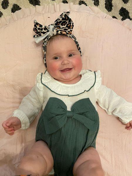 Amazon baby bow romper girl   #LTKfamily #LTKunder50 #LTKbaby
