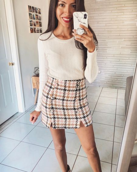 Happy Monday babes! I've been a little MIA lately but trying to slowly get back into the rhythm of things.  This houndstooth flannel skirt is the cutest, unfortunately it's sold out but I've linked a similar one and will keep my eye out for restocks. Swipe left to see the yummiest teddy coat 🤗 It's so FLUFFY!!!!  Shop my look on the @liketoknow.it app or through the link in my bio http://liketk.it/2yltu   #liketkit #LTKunder100 #LTKunder50 #LTKstyletip  #casuallooks #stylereport  #fashiontips #outfitshare #instafashionist #instalookbook #styleshare #whowhatwearing #affordablestyle #realoutfit #miamiblogger #miamistyle #miamilife #effortlessstyle #wearitloveit #everydaystyle #momstyle #modalatina #modafemenina #modamujer #estilomujer #rewardstyle #americanstyle #fallstyle #everydaystyle #dressmeforless