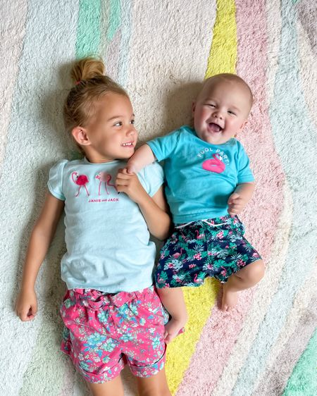 The cutest flamingo outfit ideas for baby boy, toddler girl, little boys, and little girls. Kids summer outfits on sale! Matching sibling outfits.     #LTKunder50 #LTKsalealert #LTKkids