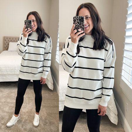 Tunic sweater or front tuck it in jeans. In a small- true size.   #LTKunder50 #LTKstyletip #LTKSeasonal