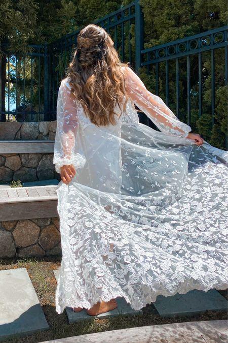 Bridal White robe   http://liketk.it/3hLGy #liketkit @liketoknow.it @liketoknow.it.brasil @liketoknow.it.europe @liketoknow.it.family @liketoknow.it.home #LTKwedding #LTKtravel #LTKstyletip