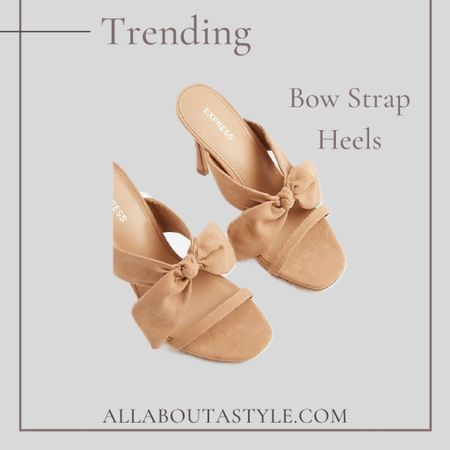 LTD Day. The cutest Bow Strsp Heels to pair with any of your summer outfits. #LTKDay #LTKstyletip #LTKunder100 #heels #express #summer #summerwear @liketoknow.it #liketkit http://liketk.it/3hcl7