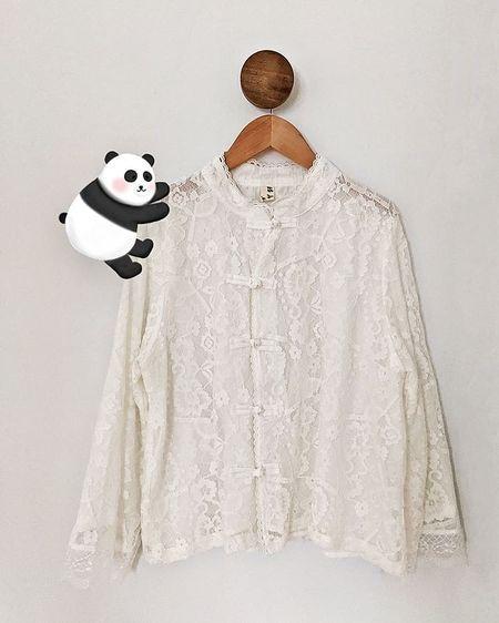 hanfu top, lace top, lace button up shirt use my rewards code LVNPETITE for additional discount!  #LTKstyletip #LTKunder50 #LTKsalealert