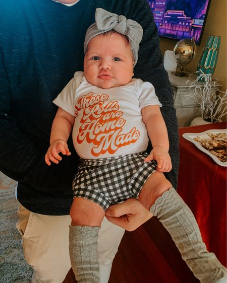 Baby girl's first Thanksgiving 🦃 http://liketk.it/32i1k #liketkit @liketoknow.it #LTKbaby