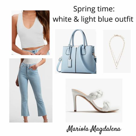 I am loving the colors white and light blue together this spring season! Just created this outfit board. What do you think of these 2 colors together?? 🤍💙  http://liketk.it/3dAko #liketkit @liketoknow.it   #LTKstyletip #LTKitbag #LTKshoecrush