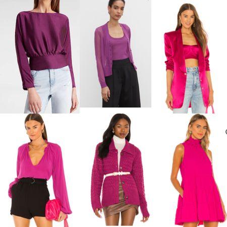 Fuchsia in any shades is a must this fall! #falltrend #fuchia #trendcolor   #LTKworkwear #LTKSeasonal #LTKstyletip