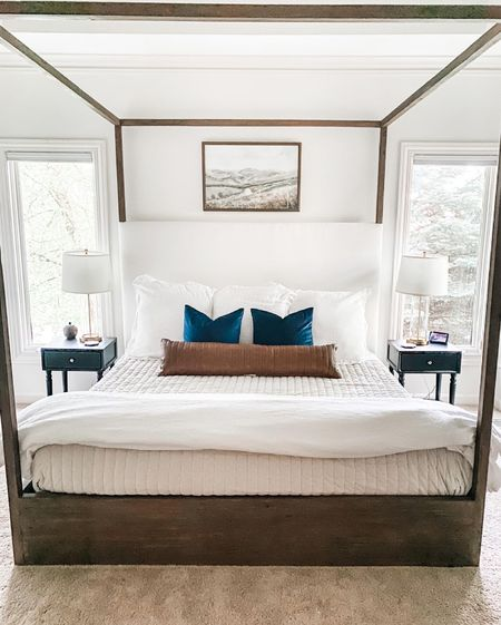 I've had a lot of people ask for me to let them know when our bed is on sale, and is!! Ending TODAY, get 20% off your order of $600 or more with code OKLSUMMER20. That also includes the nightstands! Here's your chance! Shipping is crazy far out so don't delay.  #sale #canopybed #canopy #wood #bedding #onekingslane #sale #master #masterbedroom #luxury #onsale #furniture #masterbedroomfurniture #duvet #whiteduvet #whiteduvetcover #potterybarn #target #layers #bed   #LTKhome #LTKsalealert #LTKbaby