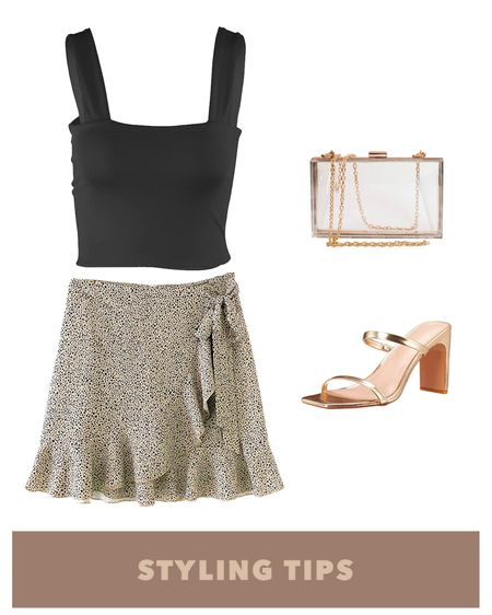 a leopard print wrap skirt paired with a tank top, two strap sandals , and  a clutch bag makes a cute date night or spring outfit. Shop my daily looks and finds  by following me on the LIKEtoKNOW.it shopping app  http://liketk.it/3aKgV #liketkit  @liketoknow.it l #LTKcurves #LTKsalealert #LTKstyletip #LTKtravel #LTKunder50 #LTKshoecrush #LTKitbag #LTKunder100 # #LTKSeasonal  Amazon fashion   amazon finds   summer fashion date night   skirt outfit   mini skirt   skirts for spring   tank top outfits   bags under 100   bags under 50   bags on sale   necklace layering   necklaces   amazon spring finds   petite style   petite fashion  