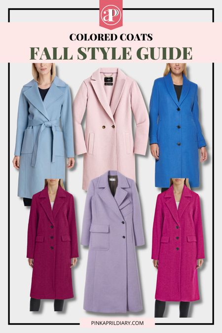Perfect way to add some subtle and fun colors to your fall style - Cool tone fall coats  #LTKstyletip