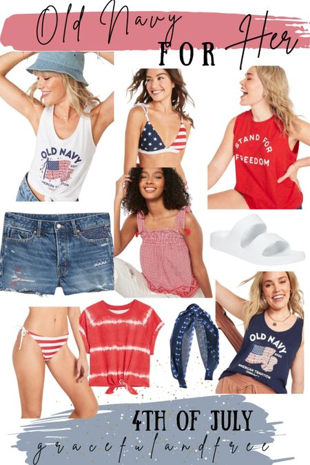 Old Navy outfits for her. 4th of July outfits & accessories. Holiday weekend.   #LTKSeasonal #LTKsalealert #LTKunder50