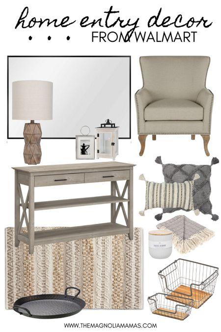 Home entry decor inspo - from Walmart!   #LTKhome #LTKstyletip