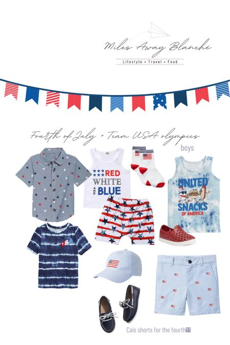 Boys outfits for Fourth of July or to cheer on team USA in the olympics! Outfits are from Amazon, old Navy & Janie and Jack! Lots of sales http://liketk.it/3iJVw #liketkit @liketoknow.it #LTKbaby #LTKkids #LTKsalealert
