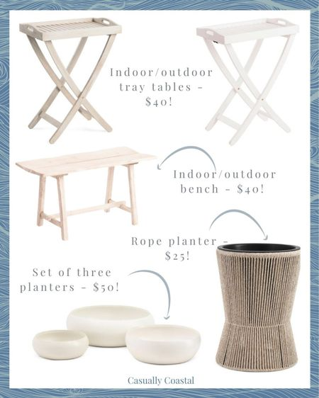 Some incredible deals on beautiful pieces for your outdoor space!   @liketoknow.it @liketoknow.it.home #liketkit #LTKhome #LTKunder50 #LTKfamily http://liketk.it/3fsOj  coastal decor, beach house decor, beach decor, beach style, coastal home, coastal home decor, coastal decorating, coastal house decor, outdoor planters, deck decor, deck furniture, patio furniture, patio decor, front porch decor, summer outdoor decor, white planters,, tall planters, bowl planters, heavy planters, small planters, large planters, summer planters, indoor outdoor tray tables, white tray table, grey tray table, gray tray table, outdoor bench, TJ maxx home, tj maxx home decor, tj maxx finds, marshalls finds, marshalls home decor, affordable outdoor furniture, tray tables, outdoor trays, indoor outdoor, outdoor entertaining, outdoor dining, affordable planters, white bowl planters