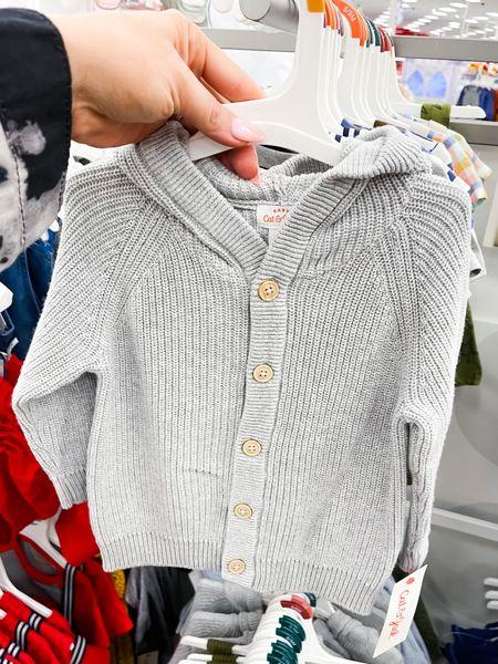 The sweetest unisex grey cardigan for baby (0-18 month sizes)   #LTKbaby #LTKSeasonal