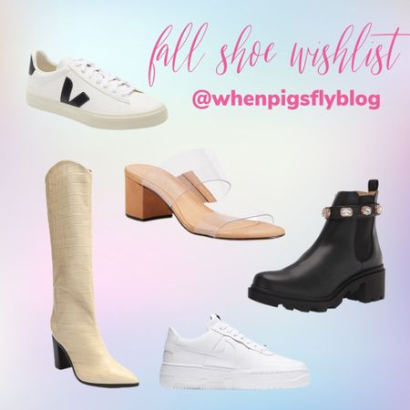 Fall shoe wishlist- Vejas Black and White Sneaker, Cowboy Cowgirl boots, white boots, black booties, Nike Air Force one pixel, white sneakers, wedding shoes, nude heel, neutral heel  #LTKSeasonal #LTKHoliday #LTKshoecrush