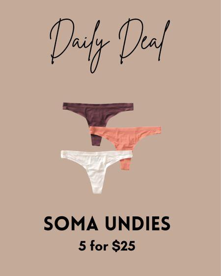My favorite undies are on sale - 5 for $25!!! I love these so much!   #LTKunder50 #LTKunder100 #LTKsalealert