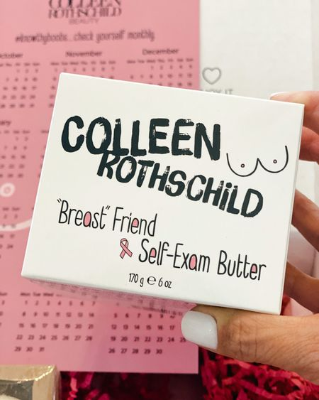 Colleen Rothschild Breast Friend Self-exam butter • save 25% code celebrate • • 100% of the proceeds goes to The Pink Fund • Breast cancer awareness • Over 40 skincare//over 50 skincare//  #LTKunder50 #LTKbeauty #LTKsalealert