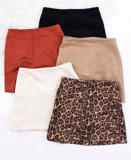 Fall skirts, suede skirts, fall outfits, cheetah skirt, cream skirt, tan skirt, black skirt, cheetah print, skirts, white skirt, fall outfit inspo, fall must haves  #LTKstyletip #LTKunder100 #LTKsalealert