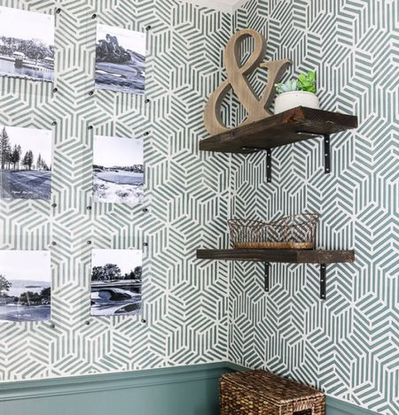 Update your bathroom with paint and a stencil for under $100!  #LTKhome #LTKunder100