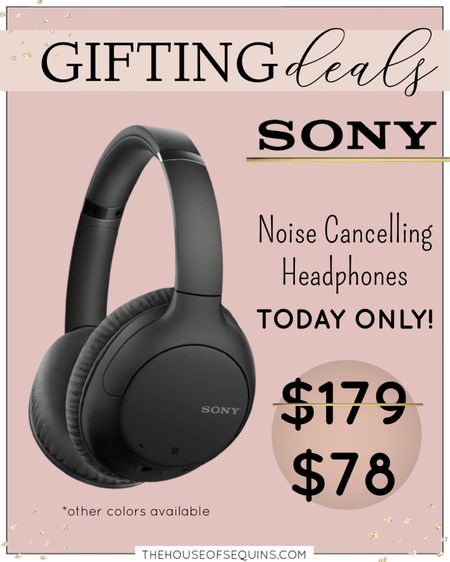 Tech Gift Sony Headphones  TODAY ONLY! Tech Gifts for Anyone. Sony Noise Cancelling wireless Bluetooth headphones. Gifts for him. Teen gifts. #houseofsequins   Follow my shop @thehouseofsequins on the @shop.LTK app to shop this post and get my exclusive app-only content!  #liketkit #LTKGiftGuide @shop.ltk http://liketk.it/3pWvW  #LTKGiftGuide