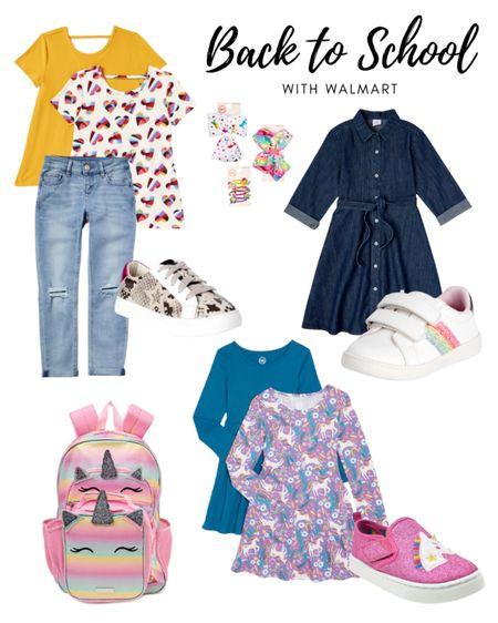 Back to school little girl clothes from Walmart   #LTKkids #LTKfamily #LTKunder50