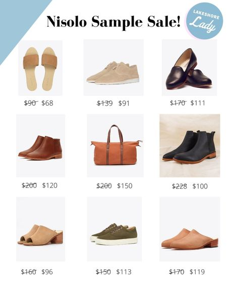 Nisolo, an awesome sustainable shoe and handbag company, is having an online sample sale! Love their booties, loafers, and sneakers!   #LTKitbag #LTKsalealert #LTKshoecrush