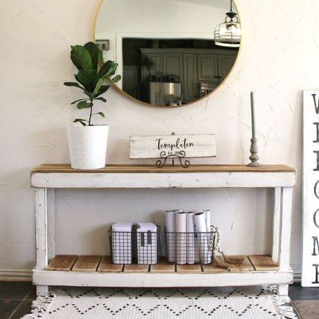 Entryway decor 💕   Walmart home, target home, cleaning, clean home, dream home, under 50, daily deals, 5 stars, amazon finds, amazon deals, daily deals, deal of the day, dotd, bohemian, farmhouse decor, farmhouse, living room, master bedroom, door room, loft, console table, entryway decor,   💕Follow for more daily deals, home decor, and style inspiration 💕  #LTKfamily #LTKhome #LTKunder50