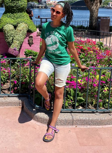 """Disney style unlocked. """"I'm so fly I never land"""". And these shoes are so comfy. They're perfect for hours of walking at Disney.   #LTKDay #LTKtravel #LTKunder100"""