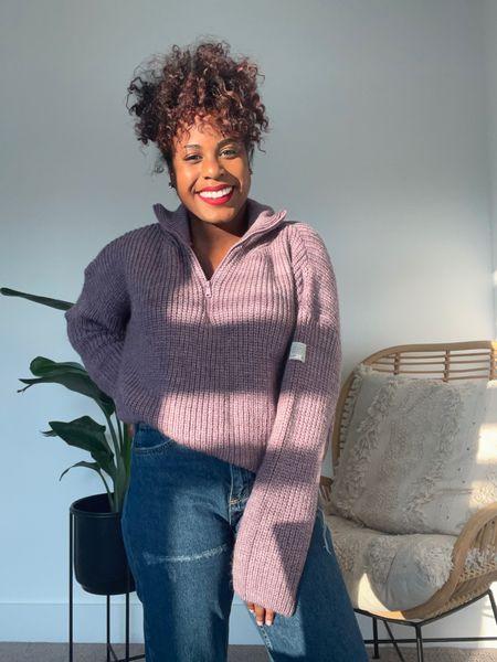 Super cute crop (on me at least) sweater! So soft with a half zip. #Nsale  #LTKunder50 #LTKstyletip #LTKsalealert