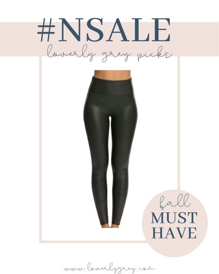 The spanx faux leather leggings are a must have for fall!   #LTKunder100 #LTKsalealert #LTKstyletip