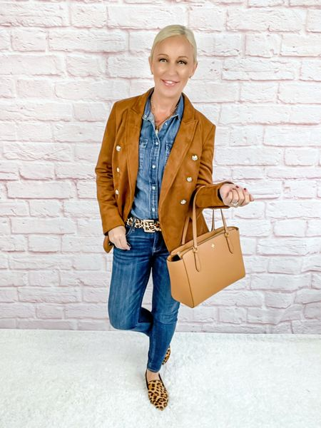 Blazer Look / Work Blazer / Workwear / Work Wear / Office Look / Office Outfit / Business Casual / Office Casual / Work Outfit / Tory Burch / Kate Spade /  Coach Handbags / Handbag /petite / over 40 / over 50 / over 60 / Fall Outfit / Fall Fashion    #LTKworkwear #LTKSeasonal #LTKitbag