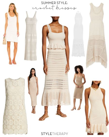 My favorite summer trend: crochet dresses 🤎🤍🤎🤍🤎   #LTKstyletip
