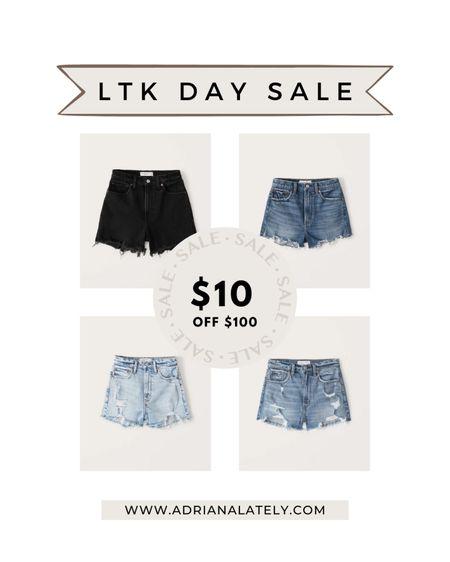 LTK day, Abercrombie, denim, jeans, Abercrombie jeans, bodysuit, summer outfits, sale, shorts, cut off shorts, high waisted shorts, mom shorts, http://liketk.it/3hjsJ #liketkit @liketoknow.it #LTKDay #LTKsalealert