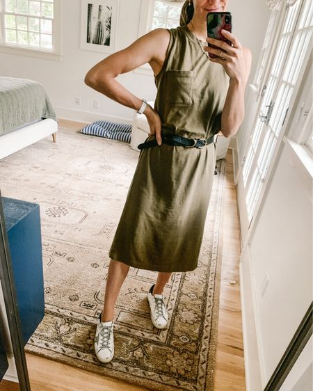 Long weekend t-shirt dress, love how it looks belted! Wore it during #pregnancy too http://liketk.it/3iIg6 #liketkit @liketoknow.it #LTKunder100 #LTKunder50 #LTKstyletip