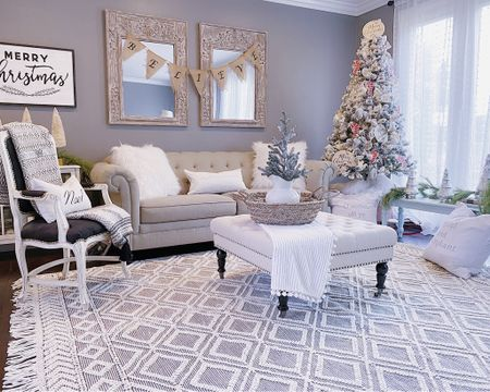 Here's my Christmas living room from last year🌲 I haven't tacked this space yet this year but will start very soon! My rug is on sale 65% off with code BF65 ⭐️ Check it out link is in my bio through LIKEtoKNOW.it  . .  Download the LIKEtoKNOW.it shopping app to shop this pic via screenshot  #liketkit @liketoknow.it #LTKhome #LTKsalealert  http://liketk.it/31LCM