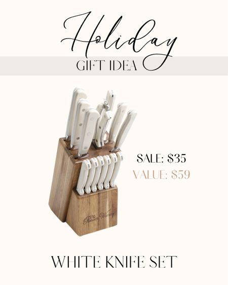 White Knife set on sale at Walmart   #LTKGiftGuide #LTKsalealert #LTKHoliday