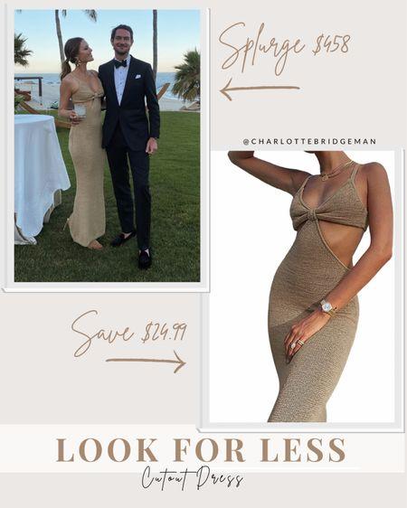 Cult Gaia cutout dress lookalike, Amazon dress, cutout knit dress, summer wedding guest dress  #LTKunder50 #LTKSeasonal #LTKwedding