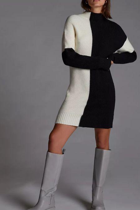 Color block sweater dress  #LTKworkwear #LTKHoliday #LTKSeasonal