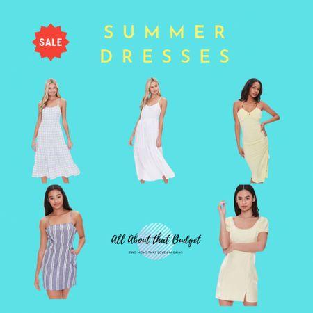 Summer dresses from @forever21  Crochet-trim mini dresses, cami dresses and more. Everything on sale for Memorial Day!  http://liketk.it/3fPE9 #liketkit @liketoknow.it #LTKunder50 #LTKsalealert