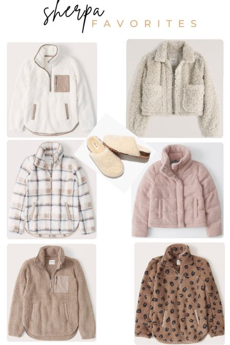 LTK Gifting Sale with Abercrombie & Fitch and Madewell. Women's fall fashion. Sherpa jacket. Sherpa vest. Sherpa pullover. Sherpa sweater. Sherpa slippers. Loungewear. Casual.  #LTKSale #LTKsalealert #LTKunder100