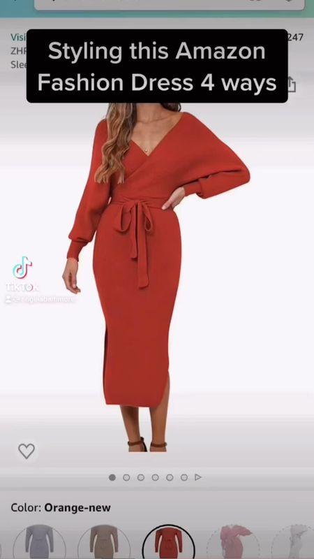 The perfect sweater dress from Amazon for under $50.  #falloutfit #fallwedding  #LTKstyletip #LTKSeasonal #LTKunder50