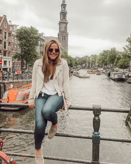 exploring canals in Amsterdam 🇳🇱 for all my outfit details by following me on the LIKEtoKNOW.it app! It's super easy to shop straight from the app http://liketk.it/2w1jV #liketkit @liketoknow.it
