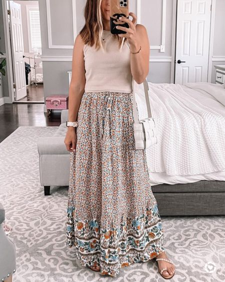 This Amazon maxi skirt is seriously my favorite and it comes in a TON of colors! Perfect summer staple!! 💗 Follow my shop on the @shop.LTK app to shop this post and get my exclusive app-only content!  #LTKstyletip #LTKunder50 #LTKunder100