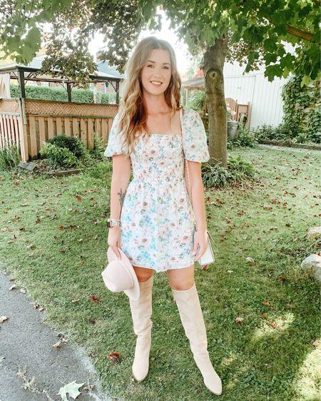 knee high boots, puff sleeve dress http://liketk.it/2XwwU #liketkit @liketoknow.it
