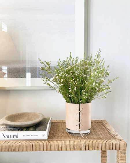 spring is near, i can feel it! ☀️ borrowing (but maybe keeping) one of my mom's handmade vases on our console table. #liketkit http://liketk.it/3aaG6 @liketoknow.it #LTKhome #LTKunder100 #LTKunder50