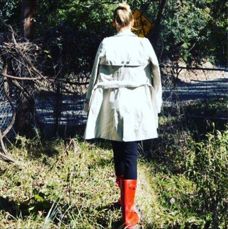 Fall musts-colorful rain boots, a classic trench and some time outside! #investmentpiece #falllooks   #LTKSeasonal #LTKstyletip #LTKshoecrush