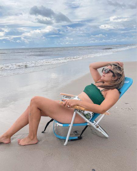 High waist bikini from @amazonfashion. (I tucked the ruffle in!) fits TTS. Also linking my sunglasses and beach read books I've read on vacation! @liketoknow.it http://liketk.it/3iXxJ #liketkit #LTKswim #LTKtravel #LTKcurves #amazon Amazon find, Amazon swimsuit, #founditonamazon