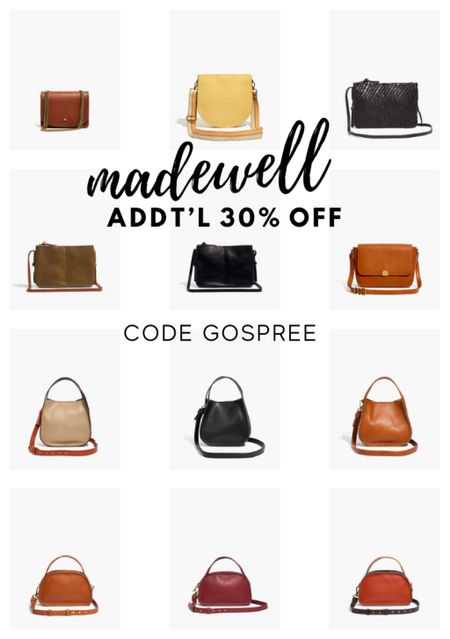 Madewell leather bags; 30% off with code GOSPREE  #LTKHoliday #LTKGiftGuide #LTKsalealert