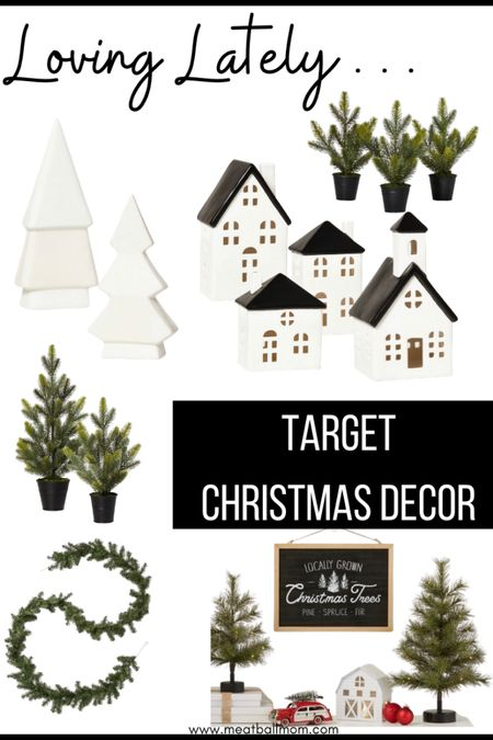 Target Christmas decor: what I've gotten so far; loving the black and white village set and the decorative trees- they can be placed in so many places in the house- bathrooms, countertops, living rooms, etc.                  http://liketk.it/2XZm8 #liketkit @liketoknow.it #LTKstyletip #LTKhome #LTKunder50 @liketoknow.it.family @liketoknow.it.home #stayhomewithltk #ltkunder100 #ltkfamily #ltkfall #ltkwinter  Christmas decor, target home decor, target Christmas decor, black and white decor, Christmas decorations, Christmas trees