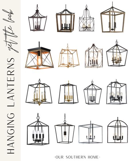 Gorgeous collection of 16 affordable hanging lanterns that work with farmhouse and classic styles!    #LTKhome #LTKfamily #LTKunder100